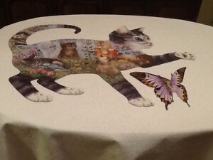 Cat and Butterfly Shaped Jigsaw Puzzles