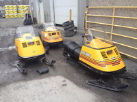 Variety of Skidoo Elan from the 70's
