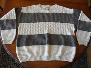 Two Men's Eddie Bauer Sweaters