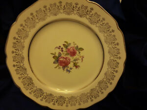FLORAL CAKE PLATE 11.5 INCHES