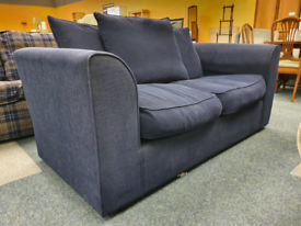 Navy blue 2 seater sofa £60