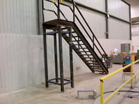 Solid metal stairs