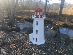 Lighthouse 3 foot with solar lighting, free delivery