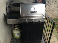 Cuisinart BBQ including cover, gas tank, and BBQ tools