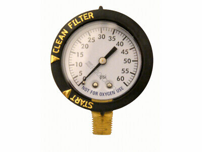 Pentair 190058 FNS Clean & Clear 0-60 psi Pool Filter Pressure Gauge Replacement ()