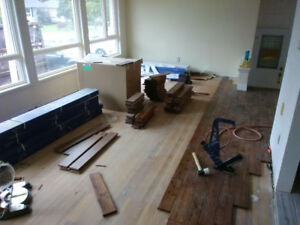 Hardwood and laminate flooring install