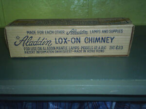 Glass  Lox-On Chimney Shade for Aladdin Lamp--see info below