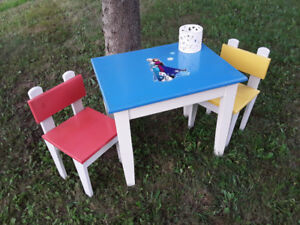 Childrens Table & Four Chairs