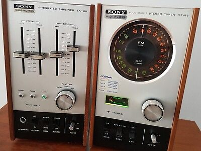 vintage sony ta/st-88 integrated amplifier stereo tuner