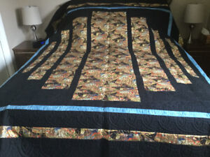 Hand Quilted queen size coverlet