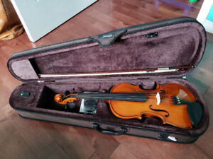 Violin, Case, and Accessories for Sale