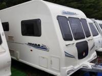 2010 Bailey Pegasus 624 Twin Axle 4 Berth Fixed Bed End Washroom Caravan M/Mover