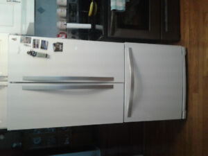 "Whirlpool 20 Cubic Ft. 30"" Wide French Doors Refrigerator."
