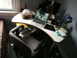 A set of desk and chair