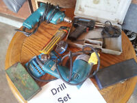 Corded Makita Drills and Lots of Bits for Sale