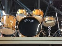 MapleWood Drumset w Hardware, Cymbals & Throne BRAND NEW