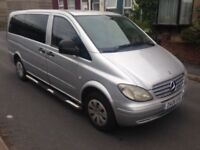 2006 06reg Mercedes Vito 2.2 Cdi Mini Bus Silver LWB Automatic