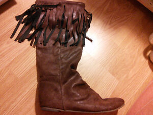 Trendy black and Brown Indian style boots