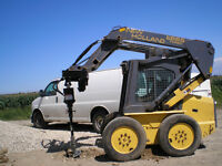Post Hole drilling, Skid Steer, Excavation, Bobcat, landscaping