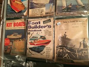 8 VINTAGE BOAT MAGAZINES_PLANS -HOW TO- Sarnia Sarnia Area image 3