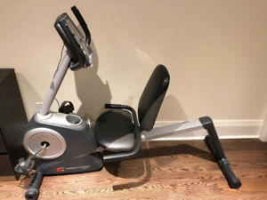Exercise bike and weight bench