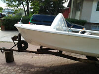 14 Foot deep V with 40 HP Evinrude & Trailer