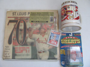 Mark McGwire Rookie & Other St. Louis Cardinal Items Mug, etc