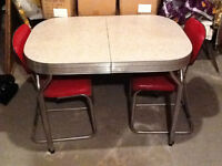 50 s Retro kitchen table & 4 chairs