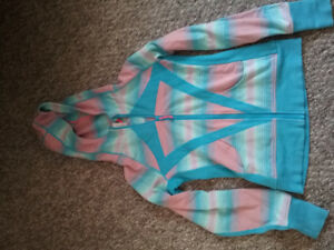 Ivivva blue and pink jacket size 14 girls, excellent shape.