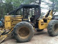 WANTED STANDING TIMBER skidder firewood lumberjack logger logs
