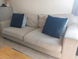 Beige 3 Seater Sofa