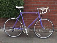 "Retro Raleigh 501 frame, 23"" Road Bike. Eroica suitable. Vintage road bike."