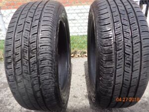 2 CONTINENTAL RUNFLAT TIRE : 205/55R17 UP FOR SALE