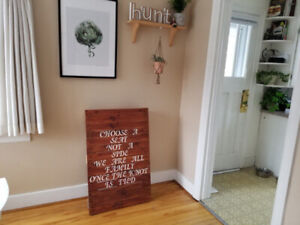 Rustic Wooden Pallet Wedding Seating Sign
