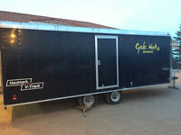 2008 Enclosed 25' Haulmark V Track Utility Trailer