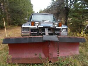 1990 Dodge with plow