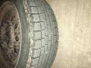 2 winter tires with rims - 195-55-R16 Regina Regina Area image 2