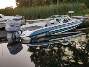 201FS Stratos fish & ski boat 200 hp Johnson & custom trailer