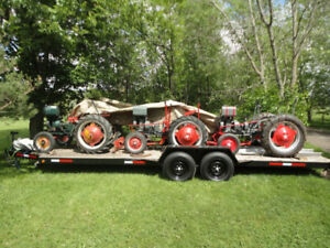 GIBSON TRACTORS  WANTED AND FOR SALE + TANDEM TRAILER