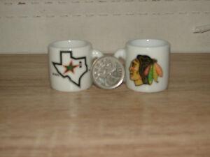 Tasses miniatures d'équipes de hockey