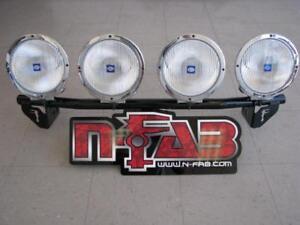 N-FAB Light Bar Light Tabs Textured Black For 15-17 Ford F150 F154LB