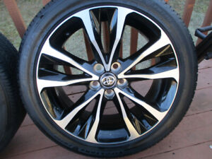 TOYOTA COROLLA MAGS + TIRES  215/45/17  LIKE NEW