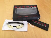 GUNNAR Optiks Gaming Glasses - PPK-00101 Gloss Onyx Frame Amber Lense - Boxed w/ Protective Pouch