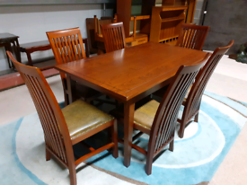 Rustic Style Extendable Dining Table&6 Chairs(🤩excellent condition)