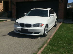 Pearl White on Black 2011 BMW 128i Coupe (2 door)