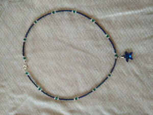 Swarovski crystal and glass beads necklace with star pendant