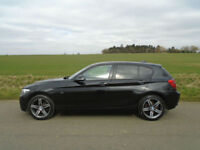 2011/61 BMW 1 SERIES 2.0 118D SPORT 5DR BLACK - NEW SHAPE - £30 TAX