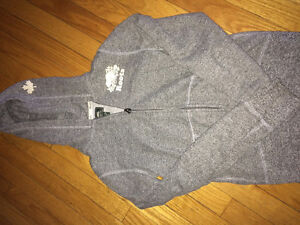 Youth XXL Roots salt and pepper zip hoodie