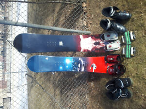 Boards, bindings and boots