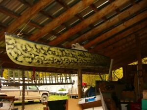 16 foot fibre glass canoe for sale